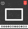 computer tablet with blank screen icon vector image