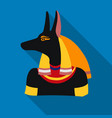 anubis icon in flat style isolated on white vector image