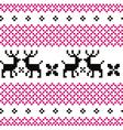Cute reindeer pattern - black and pink vector image