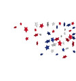 abstract background red blue white stars vector image