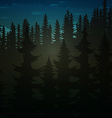 Background green realistic nature of the forest vector image vector image