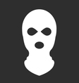 balaclava or ski mask - symbol terrorism vector image