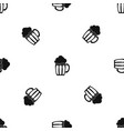 beer pattern seamless black vector image