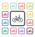 bike flat icons set vector image vector image