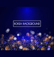 blue bokeh lights and glitter background vector image vector image
