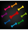 Bone icon set vector image vector image
