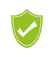 check mark shield security system icon vector image