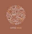 coffee house logo concept vector image