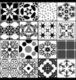 collection from seamless patterns in retro style vector image