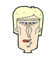 comic cartoon angry face vector image vector image