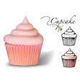 cupcake vector image
