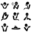 Different emotion icons vector image vector image