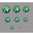 Earth Planet Earth isolated Earth set with varying vector image vector image