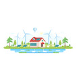 eco-friendly farm - modern flat design style vector image vector image