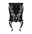 Elegant commode table with drawers vector image vector image