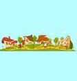 fantasy village cottage idyllic countryside vector image