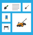 flat icon farm set of container trowel barbecue vector image vector image