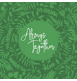 green wreath frame made from twigs and leaves vector image vector image