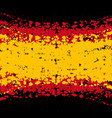 grunge blots spain flag background vector image vector image