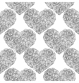 Hand drawn doodle seamless pattern hearts made of vector image