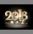 happy new year 2018 black vector image