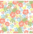 Hawaiian tropical floral seamless pattern vector image vector image
