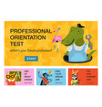 humanized animals professions horizontal banners vector image vector image