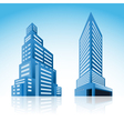 icons buildings vector image