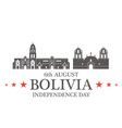 Independence Day Bolivia vector image vector image