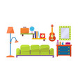 interior of a living room mirror chest of vector image vector image