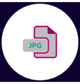 JPG computer symbol vector image vector image