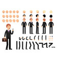 key frames business characters creation mascot vector image vector image