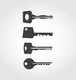 Keys Black Icon Set vector image vector image
