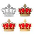 king crown engraving vintage black vector image