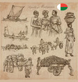 madagascar - pictures of life travel set vector image