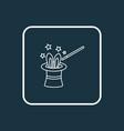 magicians hat icon line symbol premium quality vector image
