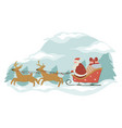 merry christmas and new year santa claus vector image