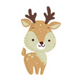 merry christmas holiday graphic cute deer with co vector image vector image