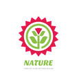 nature flower sun - concept logo template design vector image