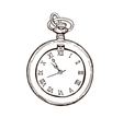Open Pocket Watch In Vintage Style Hand drawn vector image vector image
