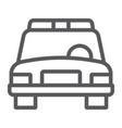 police car line icon automobile and patrol cop vector image