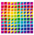 rainbow color palette combination in triangle vector image