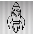 rocket isolated icon design vector image