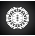 Roulette wheel icon vector image vector image