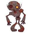 rusty zombie robot vector image vector image
