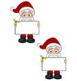 Santa Claus Holding Blank Board vector image vector image