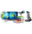 science education objects cartoon style vector image