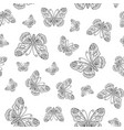 seamless pattern from butterfly contour vector image vector image