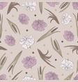 seamless pattern with a plant acorus calamu vector image vector image