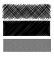 Set of Black Diagonal Strokes Patterns vector image vector image